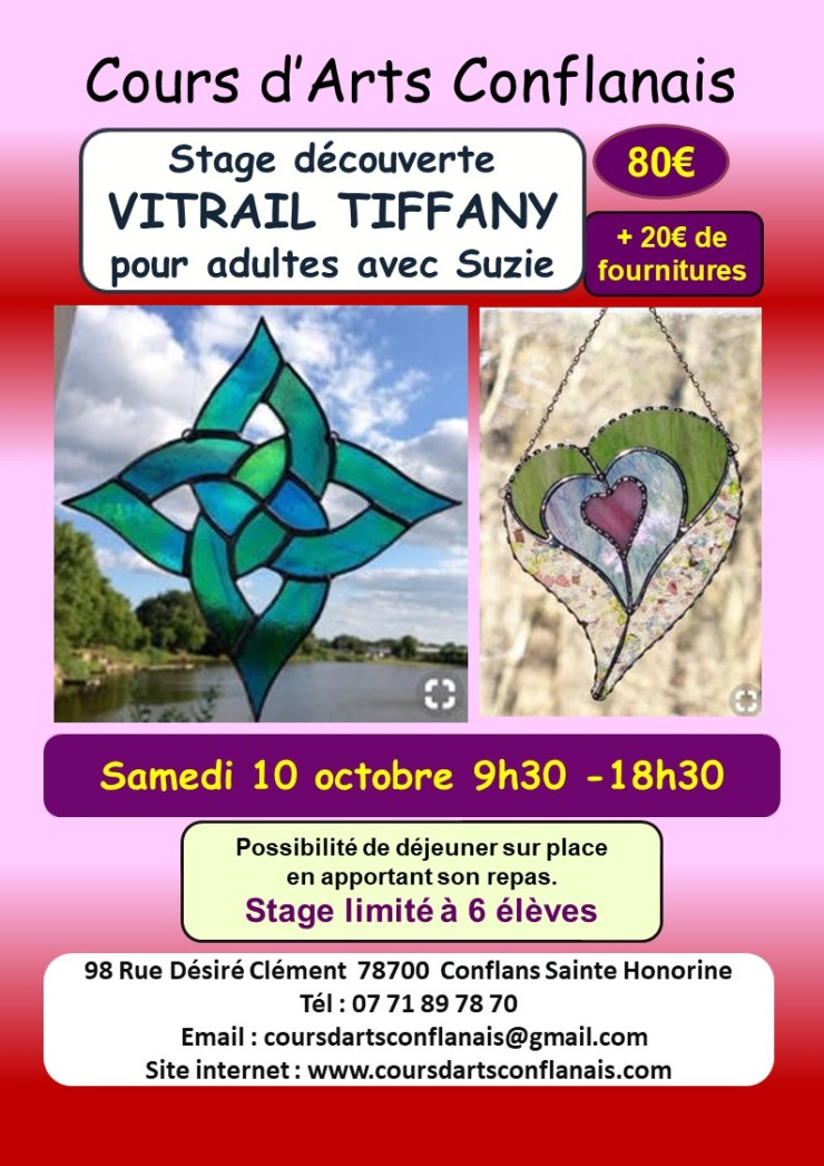 Flyer A4 stage vitrail octobre 2020 2020 06 30 v0